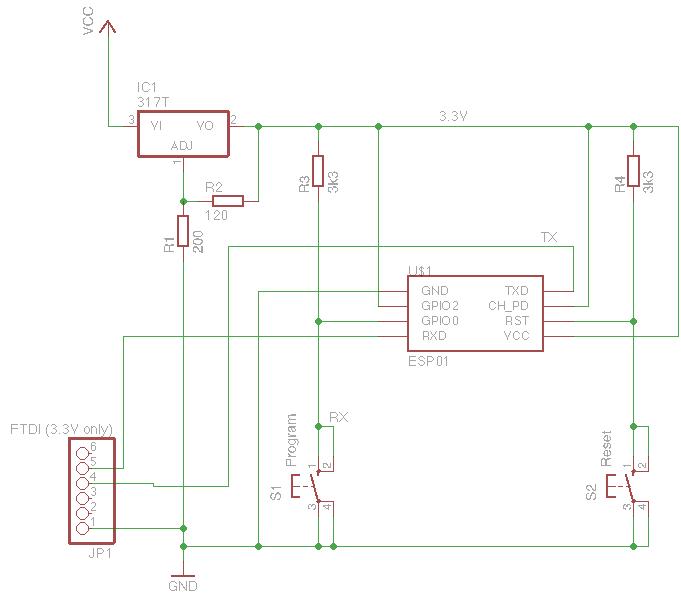 ESP8266 Programmer scematic
