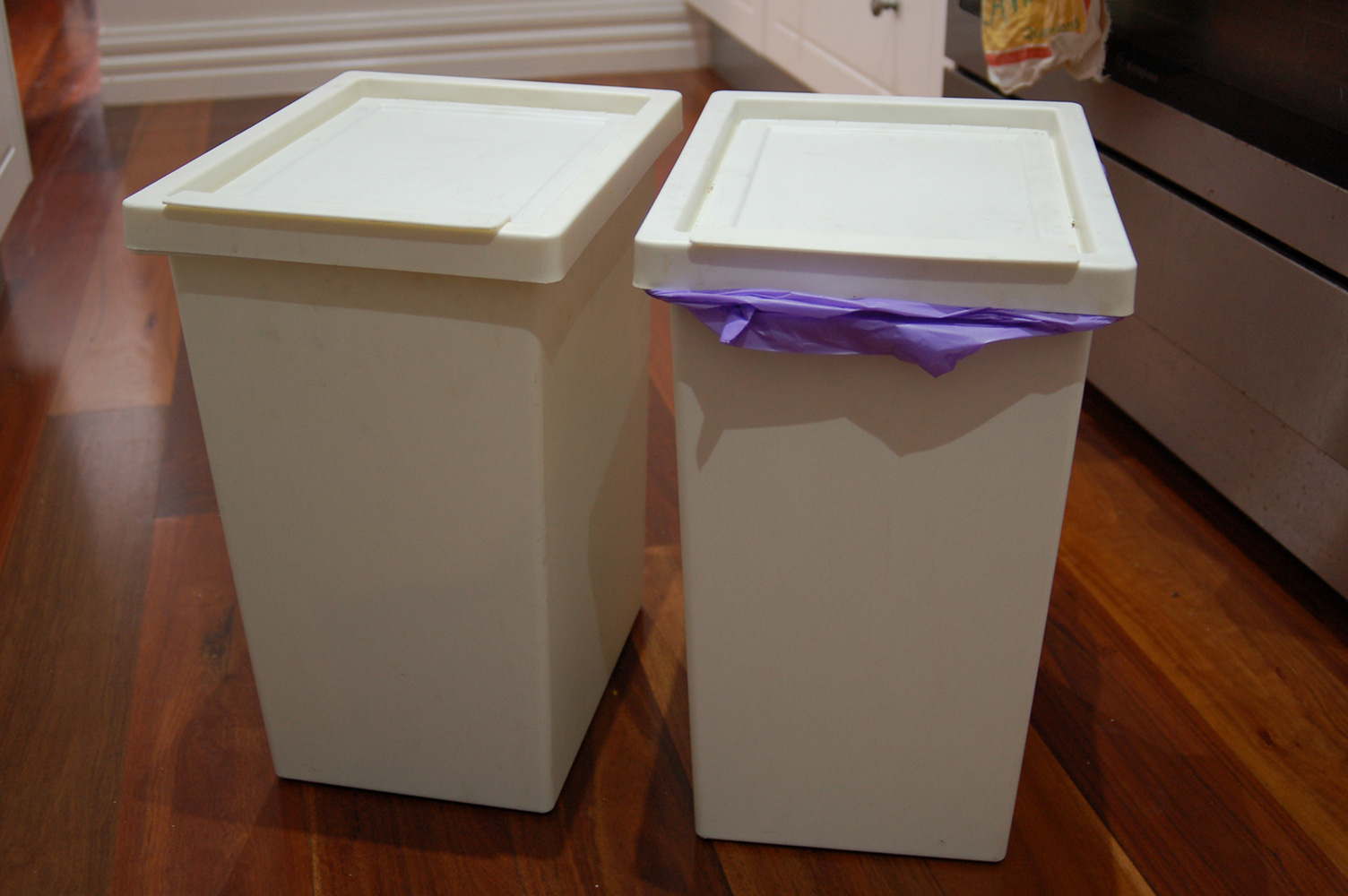 Installing Ikea Filur Bins Into A Kitchen Cupboard Without Drilling Holes