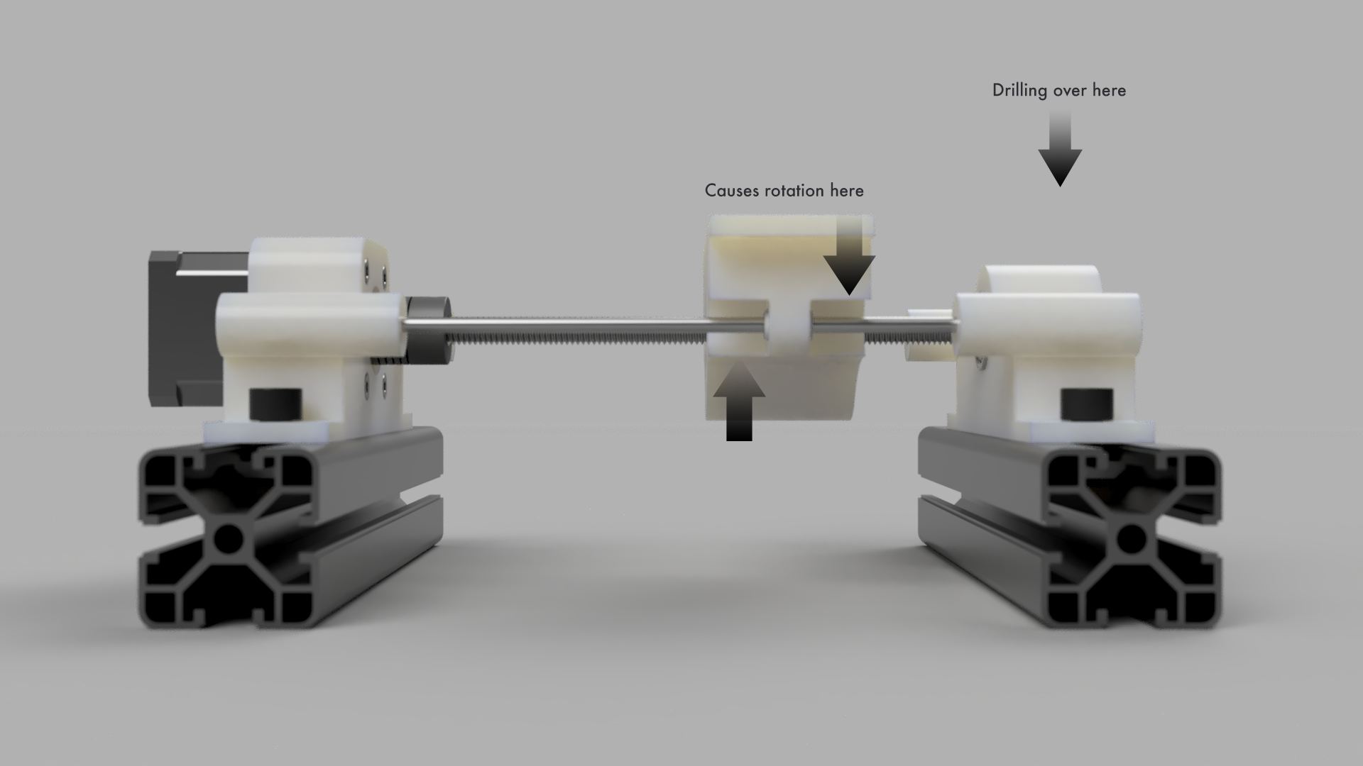 Drilling on one side of the axis, causes excessive rotational forces at the bearing
