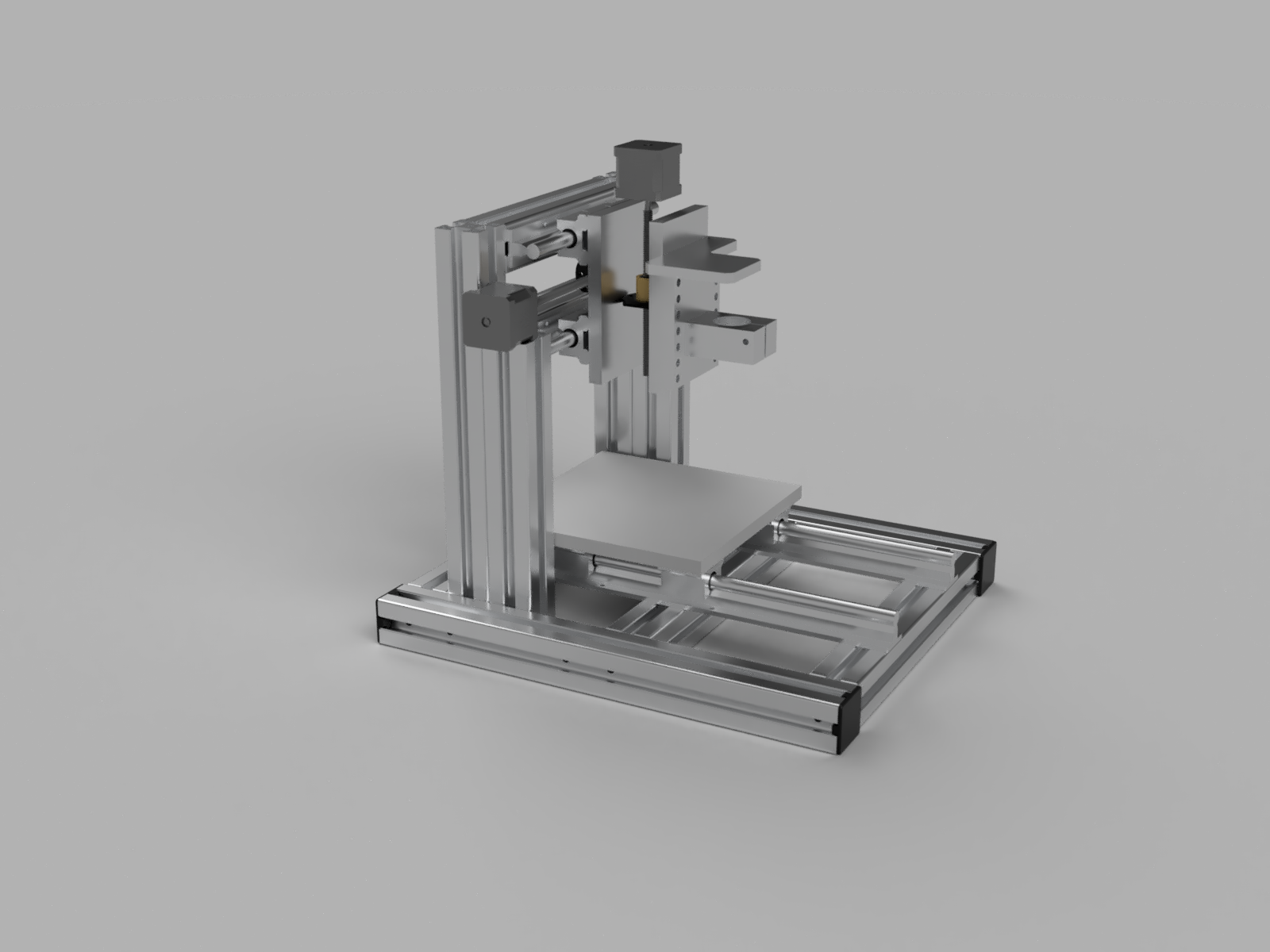 Render of the redesigned PCB Mill frame