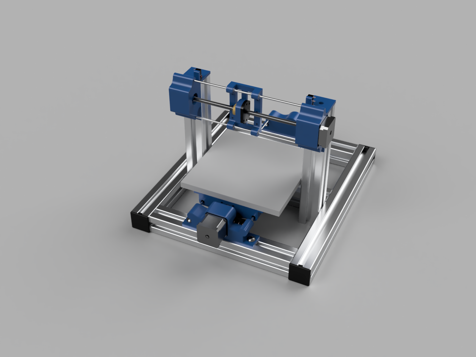 Render of the original PCB Mill X-Axis design