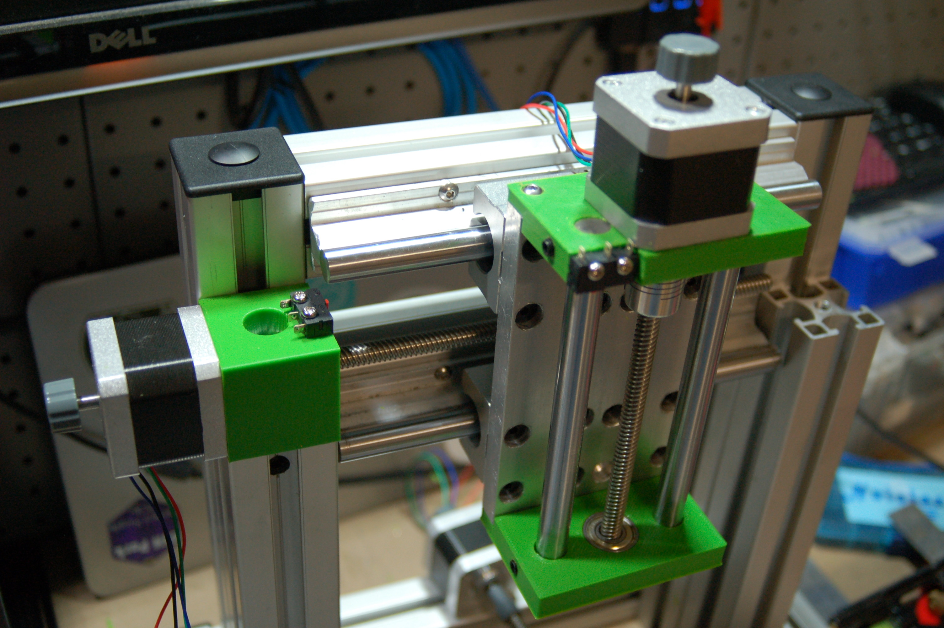 The redesigned X axis, and Z-axis